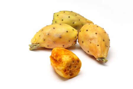 Prickly pears on white background Stock Photo - 15886728