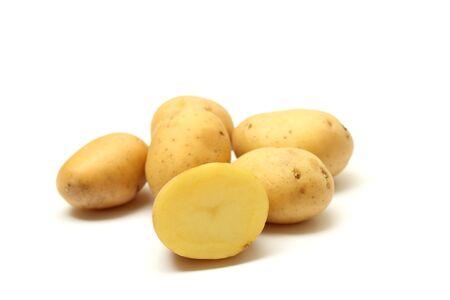 Potatoes on white background Stock Photo