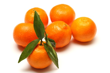 Clementines on white background Stock Photo - 17596973