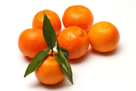 Clementines on white background Stock Photo - 17596971