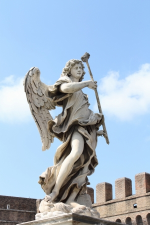 Statue of Angel on Ponte Sant photo