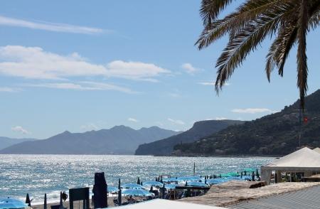 Coast in front of Varigotti, Italy