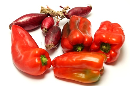 Red peppers and onions Stock Photo - 20681120