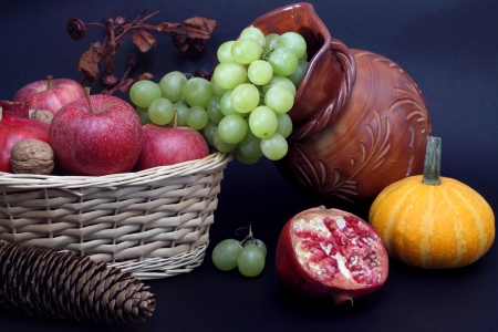 Still life with Autumn fruits photo