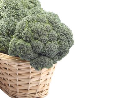Broccoli in a wicker basket