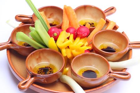 Raw vegetables for pinzimonio (vinaigrette) photo