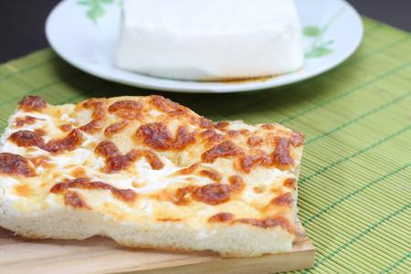 stracchino: Focaccia with cheese