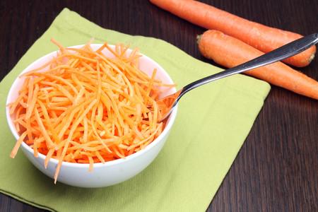 julienne: Julienne carrots in white bowl
