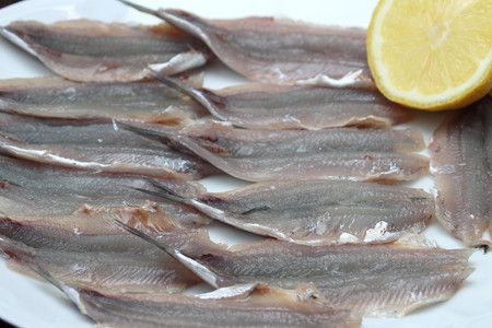 anchovy: Raw anchovy fillets