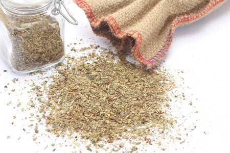 herbs de provence: Herbes de Provence and glass jar