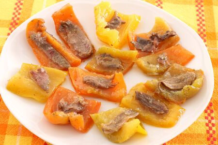 anchovy: Peppers with anchovy fillets