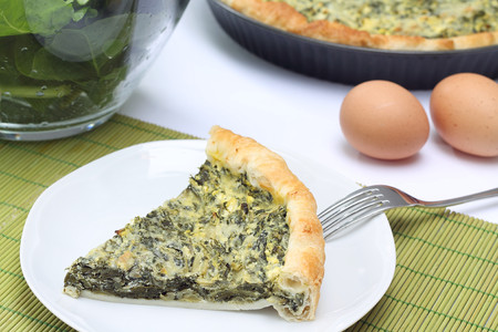 chard: Quiche with chard and cheese