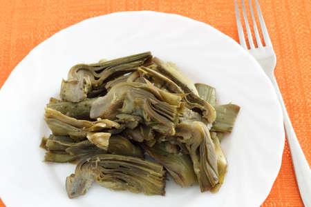 perejil: alcachofas cocidas con perejil