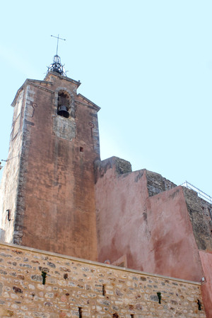Roussillon, Provence, France. Church tower
