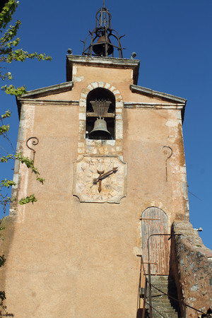 Roussillon, Provence, France. Bell tower