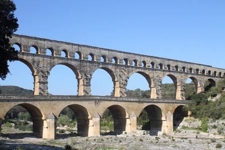Pont du gard, ancient Roman aqueduct in France