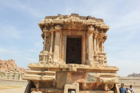 Stone Chariot Hampi Vittala Temple Karnataka Ancient India Stock Photo - 80842287