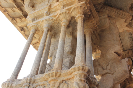 Hampi Vittala Temple one of musical pillar which gives different sounds while tapped
