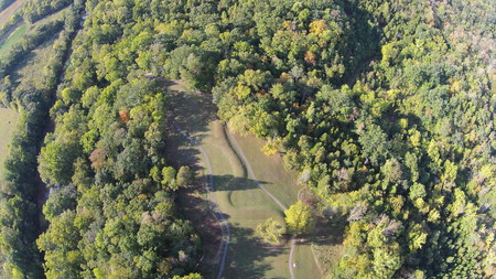 Aerial View of the  Serpent Mound