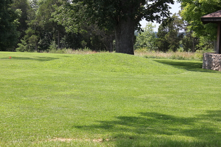 Adena Burial mound at serpent mound