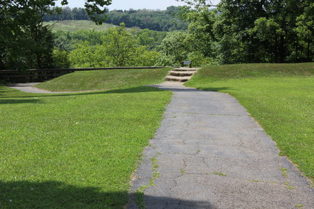 Pathway inside the Serpent mound park