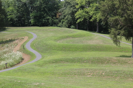 Curves of the Serpent mound Stock Photo