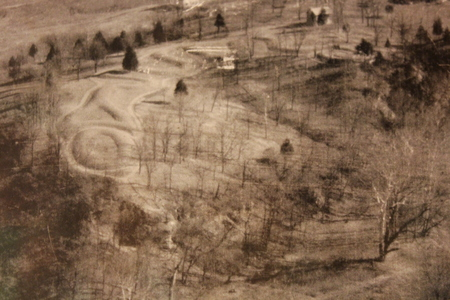 Serpent Mound old aerial photograph