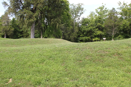 Closer view of the Effigy mound (Serpent Mound)
