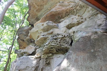 砂岩崖 (懸崖) どうもこうした細石器 写真素材