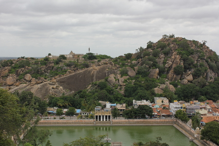 White pond under the Chandragiri hill, Shravanabelagola