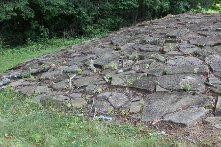 Limestone Stone Mounds at Fort Ancient