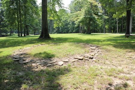 2000 Year Old Stone Circles in Fort Ancient, Ohio Stock Photo