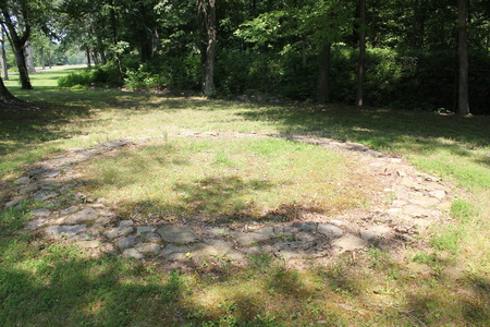 Replica of 2000 Year Old Stone Circles in Fort Ancient, Ohio