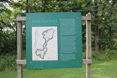 フォート ・ エンシェント文化の情報やサイン ボード