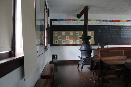 Interior of Class Room of Amish School Editorial