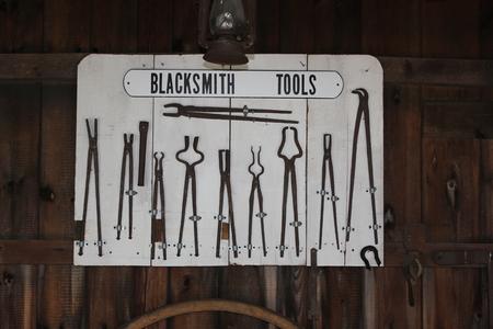 アーミッシュ村の鍛冶屋では、ツールの表示