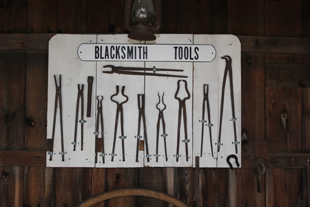 Display of Tools at the Blacksmith Shop in Amish Village