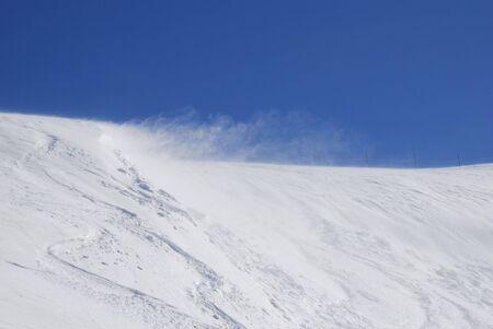 snowdrift: Wind on a snowdrift in the mountain