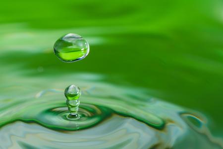 ripple effect: A drop of water create a stunning random water effect.