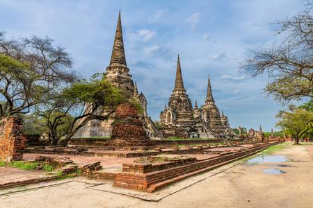 Wat Pra Sri Sun Phet in ruins, Ayutthaya, Thailand Stock Photo