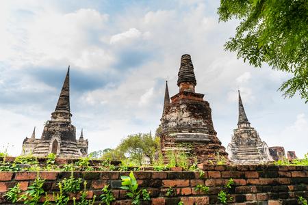 Wat Pra Sri Sun Phet in ruins, Ayutthaya, Thailand Editorial