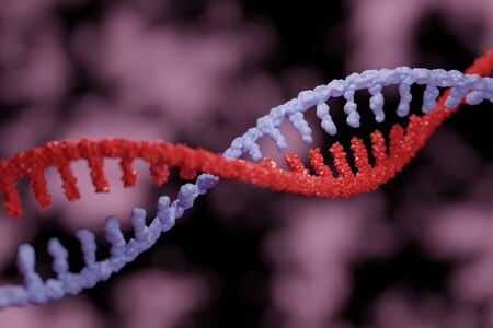 3D illustration of DNA seperation Stock Photo