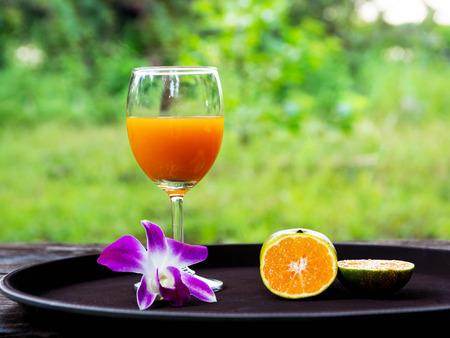 vacate: orange juice Stock Photo