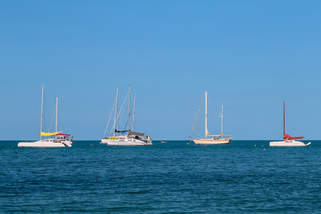 dinghies: sailboat on the sea