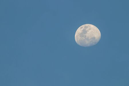 waxing gibbous: The moon in  twilight, background Stock Photo