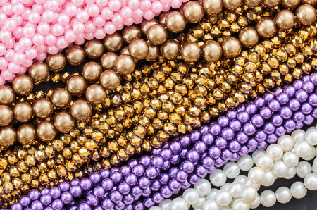 colorful beads: Colorful beads necklace, backgronnd