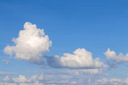 White cloud in the blue sky for background