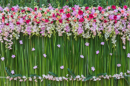 Beautiful flowers background for wedding scene Stok Fotoğraf
