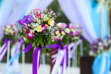 Flower setting for wedding ceremony