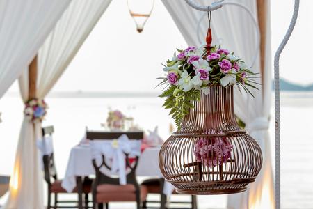 Flower setting for dinner party